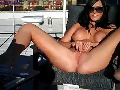 Destiny dixon tans and masturbates on the rooftop tubes