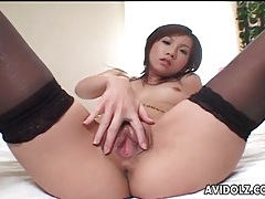 Beautiful young japanese girl in stockings tubes