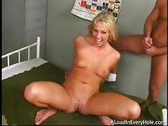 Three cumshots for hot blonde cock whore tubes