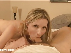 Skinny milf gives him head in bed tubes