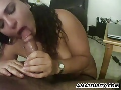 Busty and chubby amateur wife sucks and fucks tubes