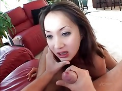 Ass fucked asian takes his load on her face tubes