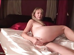 Mature pussy and hard nipples in close up tubes