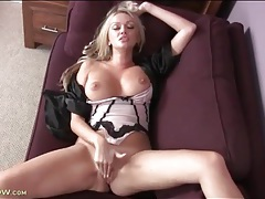 Big breasted milf masturbates on the couch tubes