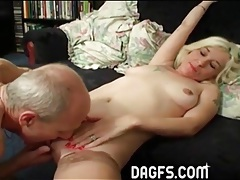 Big cock old guy fucks young blonde girl tubes