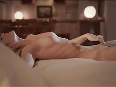 Erotic evening masturbation with sexy blonde tubes