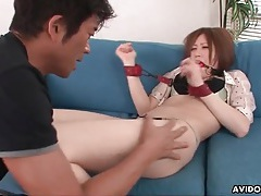 Japanese girl gagged and eaten out sensually tubes