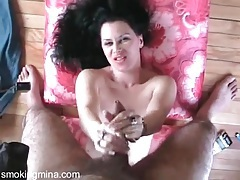 Handjob and facesitting is sexy in couple porn video tubes