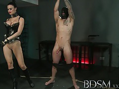 Bdsm xxx slave boy gets tied up and receives more than he bargained for from horny mistress tubes