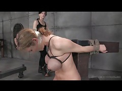 Big tits tightly tied in dungeon bdsm porn tubes