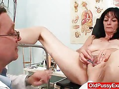 Amateur mother vag exploration by naughty gyn m.d. tubes