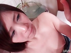 Young japanese mouth blows him lustily tubes