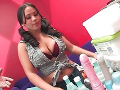 Pigtailed girl tours porn studio and sucks dick tubes
