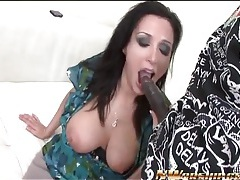 Curvy vannah sterling sucks black cock tubes