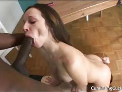 Cuck guy eats pussy and sucks black cock tubes