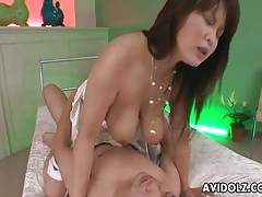 Big tits in his face during japanese cock ride tubes