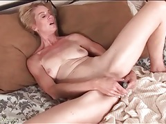 Cute mature is horny for sex with her dildo tubes