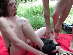 Grannies and milfs suck and fuck outdoors tubes