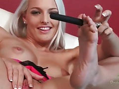 Blonde cums in dildo masturbation video tubes