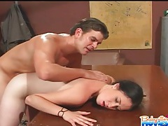 Demi marx anal sex when bent over a desk tubes