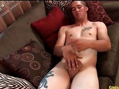 Handjob makes the cock of young guy hard tubes