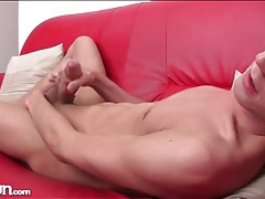 Beautiful boy with blue eyes masturbates solo tubes