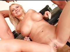 Three dicks invade slutty blonde milf deep tubes