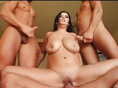Spectacular big tits on hardcore threesome slut tubes