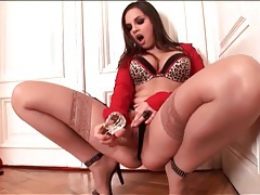 Animal print lingerie is sexy on eve angel tubes
