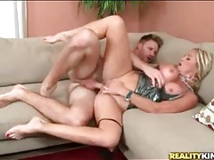 Milf with fake tits likes aggressive fucking tubes