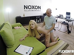 Assfucked by her future boss tubes