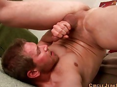 Flexible guy gives a fantastic self facial tubes