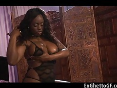 One black chick and two huge white dicks tubes