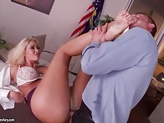 Bimbo secretary fucked on his desk tubes