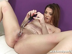 Butt plug and dildo sex with hot brunette tubes
