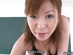Japanese milf teacher jun kusanagi sucks her student tubes