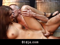 Old man and young girl intense and passionate sex tubes