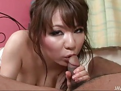 Japanese titjob gets him hard for fucking tubes