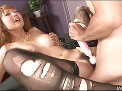 Double penetrated asian takes two cumshots tubes