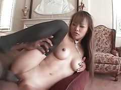 Skinny asian with big breasts fucked by bbc tubes