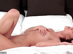 Erotic solo masturbation with a beautiful brunette tubes