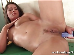 Teen dildo fucks her ass and fingers her cunt tubes