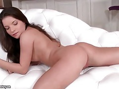 Cock screws her young ass and cums on her anus tubes
