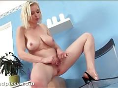 Beautiful big tits on masturbating blonde girl tubes