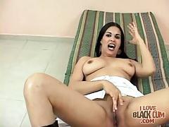 Her latina mouth deepthroats a hard dick tubes
