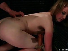 Tied up sweetheart gets a hard ass spanking tubes