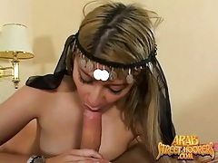 Naughty arab girl gives a beautiful blowjob tubes