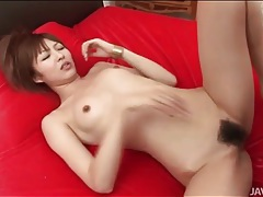 Fingering and modeling japanese cunt in close up tubes