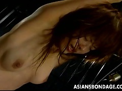 Hairy japanese vagina bound and satisfied tubes