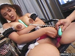 Ravishing japanese cutie enjoys hardcore dicking tubes